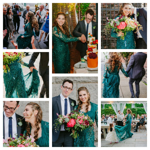 Micaela's wedding collage