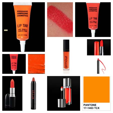 Orange lip products mentioned in post