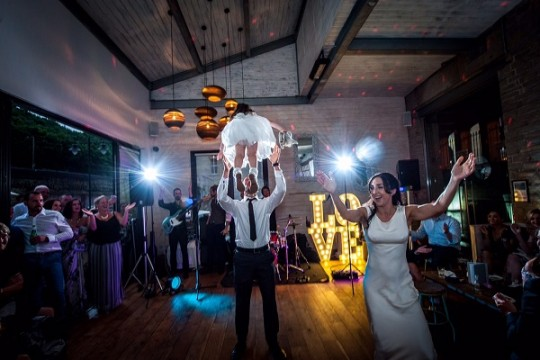 """We had our wedding reception back in the UK at 53 Degrees North in Halifax which is a beautiful modern bar with fantastic food. We're both foodies and wanted something a bit different so this was perfect."""
