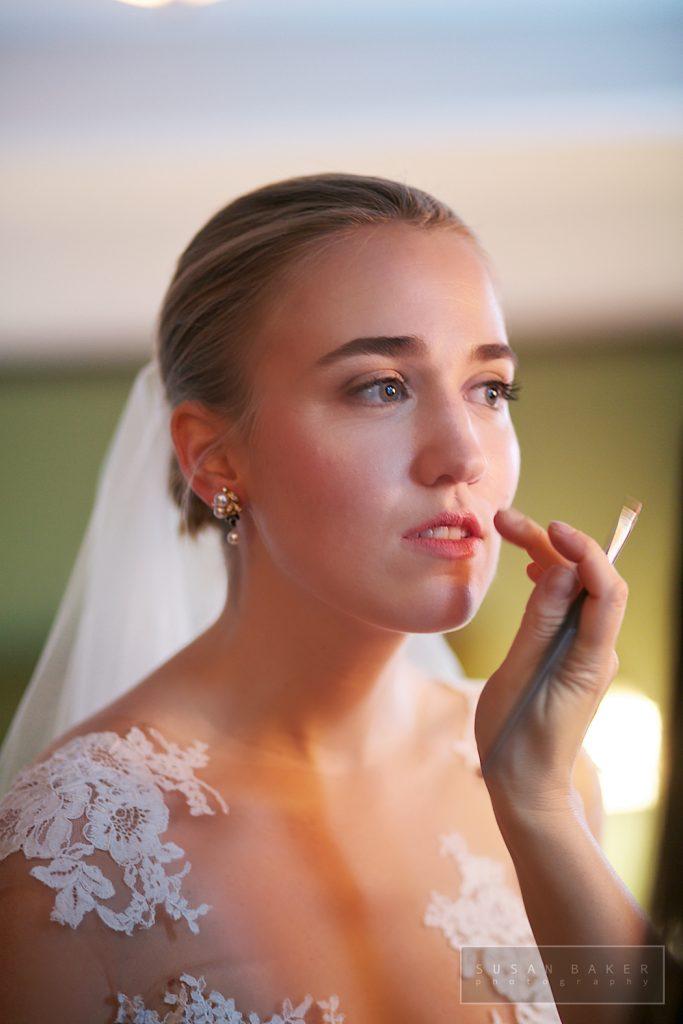 bridal makeup in progress