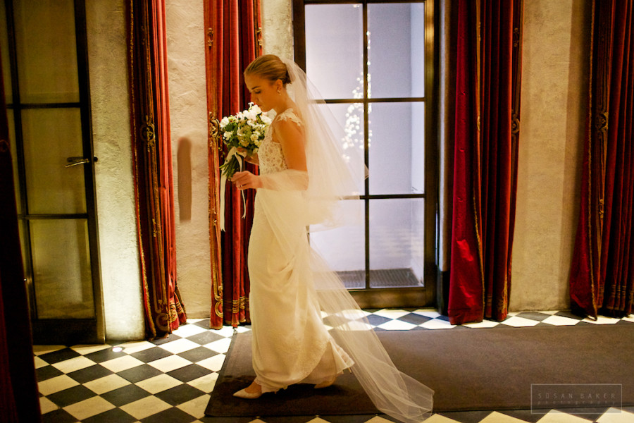 Holiday bride on wedding day at Gramercy Park Hotel