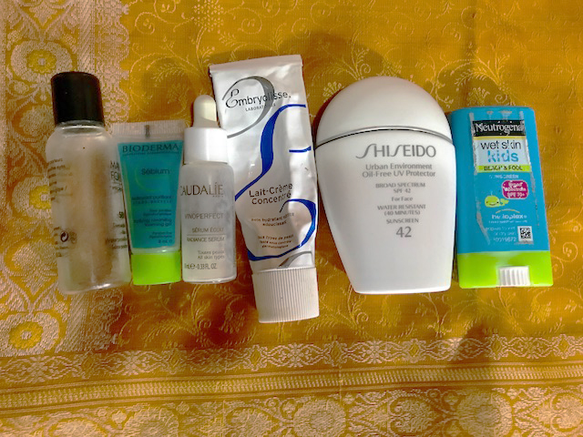 lineup of travel products