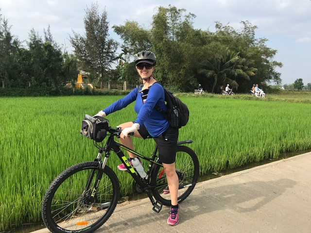 On a bike, in Vietnam!