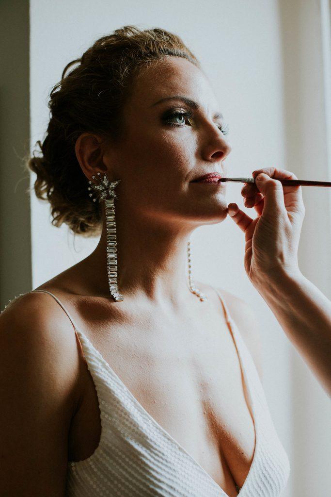 closeup Liz bridal makeup