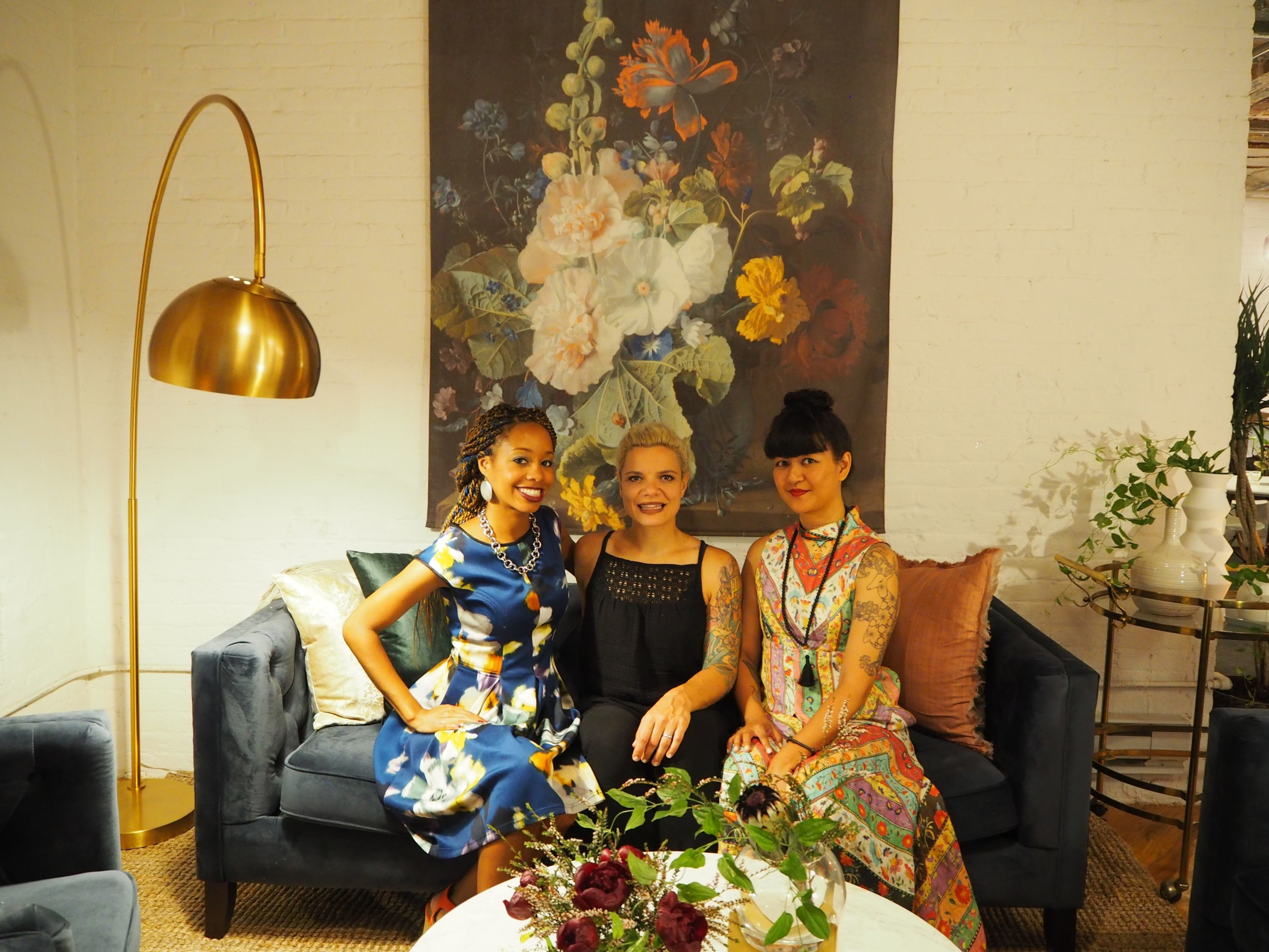 Three founders of Tinsel Experiential Design of Brooklyn