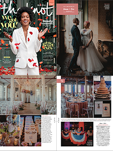 The Knot magazine feature collage